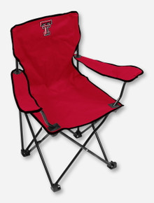 Logo Texas Tech Double T on YOUTH Red Chair
