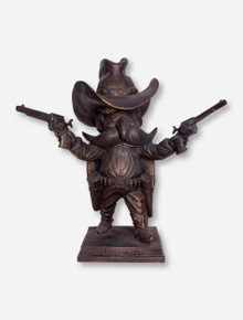 Texas Tech Guns Up Raider Red Bronze Statue (Over 2 Feet Tall!)