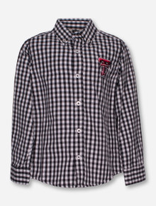Wes & Willy Texas Tech Gingham TODDLER Dress Shirt