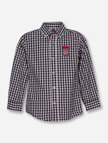 Wes & Willy Texas Tech Gingham KID'S Dress Shirt