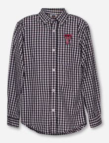 Wes & Willy Texas Tech Gingham YOUTH Dress Shirt