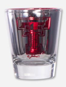 Texas Tech Laser Cut Metallic Shot Glass