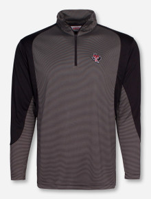 Texas Tech Practice Round Striped Quarter Zip Pullover