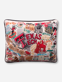 Catstudio Embroidered Texas Tech Red Raiders Decorative Pillow