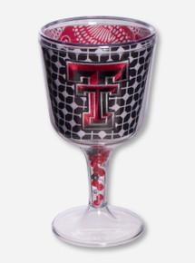 Texas Tech Double T Geometric Wine Goblet