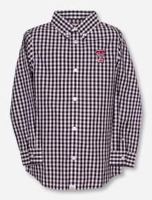 "Garb Texas Tech ""Logan"" YOUTH Plaid Dress Shirt"