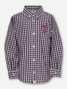 "Garb Texas Tech ""Logan"" TODDLER Plaid Dress Shirt"