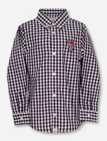 "Garb Texas Tech ""Logan"" TODDLER Plaid Dress Shirt"