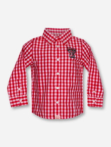 "Garb Texas Tech ""Logan"" INFANT Red Plaid Dress Shirt"