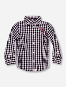 "Garb Texas Tech ""Logan"" INFANT Black Plaid Dress Shirt"
