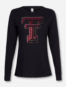 Texas Tech Double T Bling on Longsleeve Shirt
