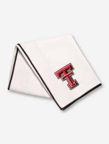 Team Effort Texas Tech Double T on White Microfiber Golf Towel