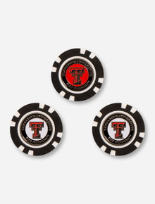 Team Golf Three Pack of Texas Tech Poker Chip Ball Markers