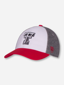 """Top of the World Texas Tech """"Hustle"""" Double T on Tri-Color Stretch Fit"""