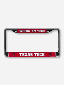 Texas Tech Wreck 'Em Tech Red and Chrome License Plate Frame