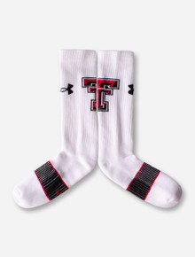 Under Armour Texas Tech White Crew Socks - Size Large