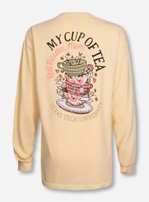Texas Tech Mom's Cup of Tea Butter Long Sleeve Shirt