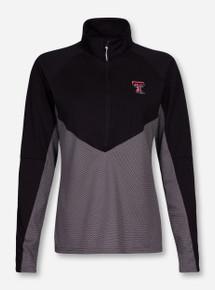 "Antigua Texas Tech ""Convoy"" Black and Grey Half Zip Pullover"