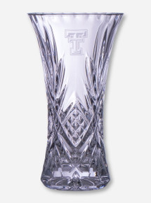 "Texas Tech 11 3/4"" Crystal Vase"