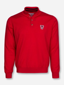 Thomas Dean Texas Tech Red Buttoned Sweater