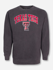 Texas Tech Arch on Crew Neck Sweatshirt