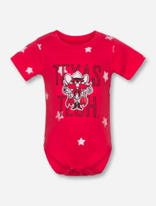 Wes & Willy Texas Tech Raider Red Star INFANT Red Onesie