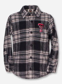 Wes & Willy Texas Tech TODDLER Plaid Long Sleeve Shirt
