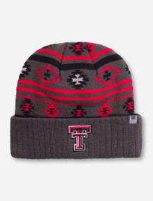 "Top of the World Texas Tech ""Aztec"" Charcoal Beanie"