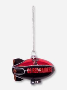 Texas Tech Red and Black Blimp Christmas Ornament