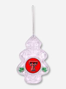 Texas Tech Clear Christmas Tree Ornament