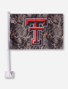 Texas Tech Double T Camo Car Flag