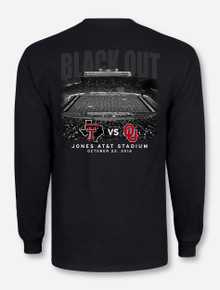 Texas Tech vs. Oklahoma 2016 Black Out Game Day Long Sleeve Shirt