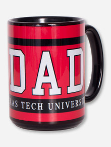 Texas Tech DAD on Red and Black Coffe Mug