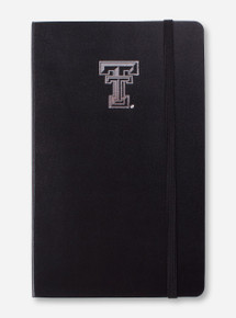 Texas Tech Silver Double T Black Moleskine Ruled Notebook