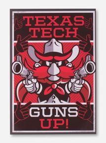 Texas Tech Raider Red Guns Up Canvas