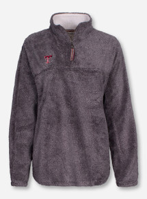 "Pressbox Texas Tech ""Shaggy"" Grey Quarter Zip"