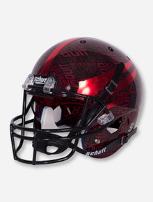 Schutt Texas Tech Lone Survivor/ Never Quit Red and Black Replica Helmet