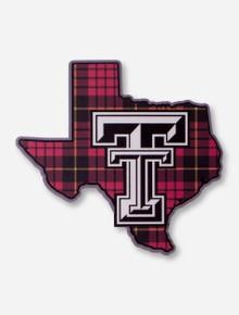 Texas Tech Plaid Lone Star Pride Decal