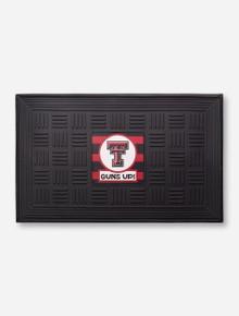 Texas Tech Guns Up Black Door Mat