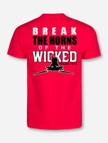 Texas Tech Breaking the Horns of the Wicked Red T-Shirt