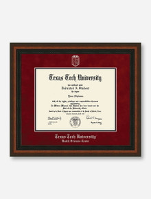 HSC Silver Embossed Mahogany Rope Red Suede Diploma Frame T8