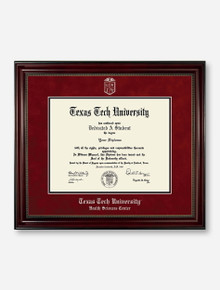 HSC PhD Silver Embossed Cherry Bead Red Suede Diploma Frame T13