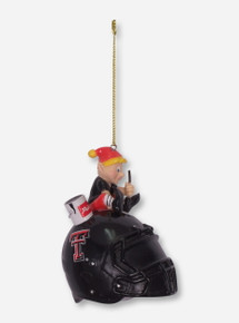 Texas Tech Elf on a Helmet Christmas Ornament
