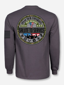 Texas Tech Salute To Service Stealth Grey Long Sleeve Shirt
