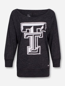 Nike Texas Tech Gym Vintage Crew 3/4 Sleeve Shirt