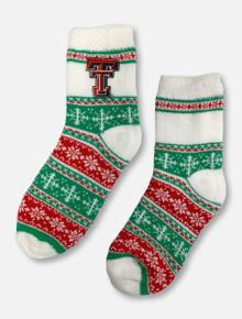 ZooZatz Texas Tech Christmas Cabin Socks