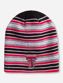 "Zephyr Texas Tech ""Traverse"" Double T Striped Beanie"
