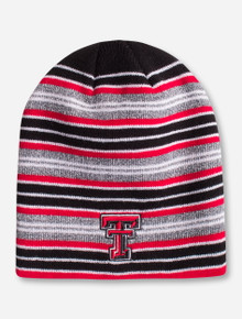 "Zephyr Texas Tech ""Traverse"" Double T Striped Beanie"