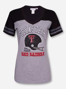 """Livy Lu Texas Tech """"3rd and Goal"""" V Neck Shirt"""