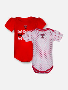 "Garb Texas Tech ""Tammy"" Set of 2 INFANT Onesie"